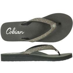 Cobian Fiesta Skinny Bounce Sandal for Women, Pewter