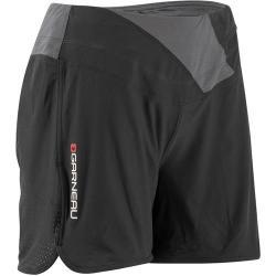 Louis Garneau Rio Cycling Short w/Underpant Liner for Women - Black/Gray