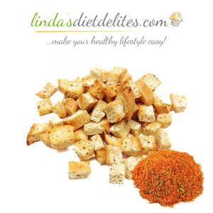 Lindas Diet Delites Low Carb Croutons Seasoned