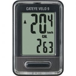 CatEye Velo 9 Bike Computer - Wired, Black