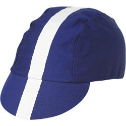 Pace Classic Cycling Cap: Royal Blue with White Tape, MD/LG