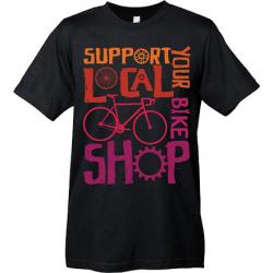 Mechanical Threads Support Your Local Shop T-Shirt