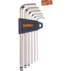 Ice Toolz Hex L-Wrench 7pc Set, 2-8mm w/Holder