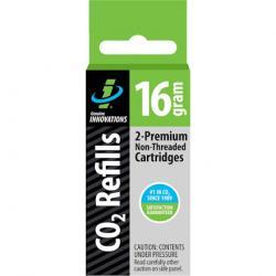 Genuine Innovations 16g Threadless CO2 Cartridges: 2-Pack