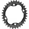 Absolute Black Oval 96 BCD Chainring - Asym BCD, 4-Bolt, Requires Hyperglide+ Chain