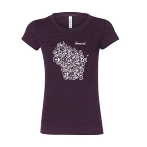 Wisconsin Bike Fed Women's Forward T-Shirt