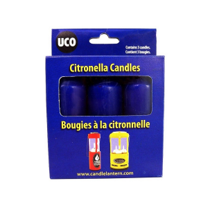 Industrial Rev Citronella Candles 3-Pack for Candle Lantern