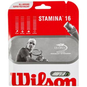 Wilson Stamina 16 Tennis Racquet String - White