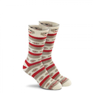 Fox River Mills Red Heel Monkey Stripe Crew Socks