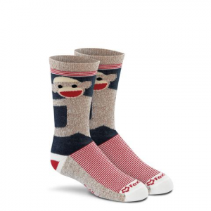 Fox River Mills Youth Monkey Hugs Crew Socks