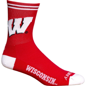 Adrenaline Promotion Unisex Wisconsin Badgers Cycling Socks