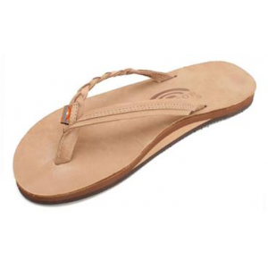 Rainbow Sandals Flirty Braidy - Single Layer Premier Leather with Arch Support with a Braided St