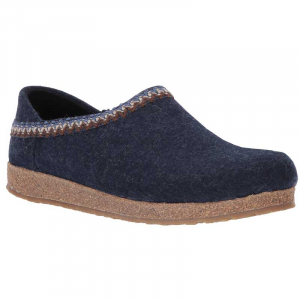 Haflinger Captains Blue with Zig Zag Trim - Wool Felt Grizzly
