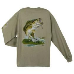 T-shirts long sleeve Al-agnew Largemouth
