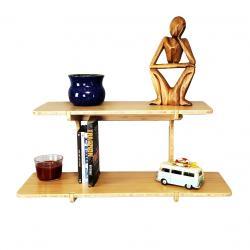 Double Shelf - Bamboo Floating Shelf