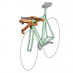 Bike Wall Rack | Bike Shelf | Horizontal Wall-Mounted Indoor Bike Storage - The Rackcycle