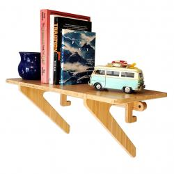 Single Shelf - Bamboo Floating Wall Shelf