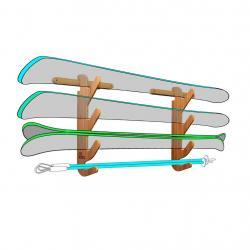 The Hallsteiner Series - Ski Rack