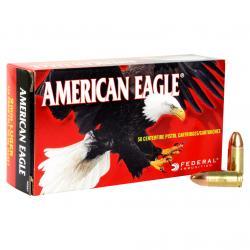 FEDERAL American Eagle 9mm 124 Grain FMJ Ammo, 50 Round Box (AE9AP)