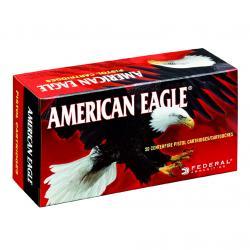 FEDERAL American Eagle 9mm 147 Grain FMJ Ammo, 50 Round Box (AE9FP)