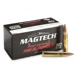 MAGTECH First Defense 300 Blackout 123Gr FMJ 50Rd Box Ammo (300BLKB)