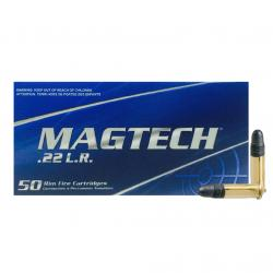 MAGTECH 22 LR 40gr Standard Velocity Lead Round Nose 50rd Box Rimfire Ammo (10000111)