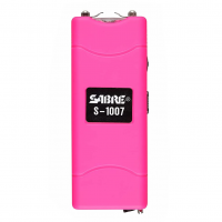 SABRE Pink Short Stun Gun with LED Flashlight (S-1007-PK)