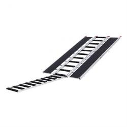 """Black Ice SNO-9454-HDXW-EXT-S 7' 10"""" x 54"""" Tri-Fold Snowmobile Ramp, Extension, Stud Protectors"""