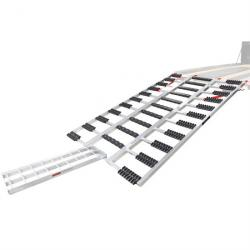 """Black Ice 77"""" Snowmobile Trailer Ramp with Center Extension and Stud Protectors"""