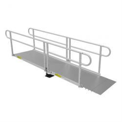 "10' L x 36"" W Solid Surface EZ-Access(R) Pathway Solo Ramp"