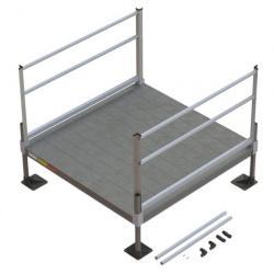 5' L x 5' W Solid Surface EZ-Access(R) Pathway Solo Platform