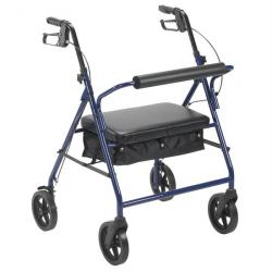 Drive Medical Black Bariatric Rollator