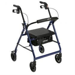 "Drive Medical Walker Rollator with 6"" Wheels - Blue"