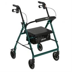 """Drive Medical Walker Rollator with 6"""" Wheels - Green"""