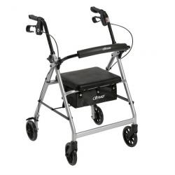 "Drive Medical Walker Rollator with 6"" Wheels - Silver"
