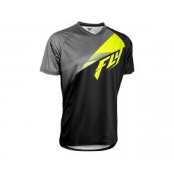 Fly Racing Super D Jersey (Black/Lime/Grey) (M) (Prior Year) - 352-0789M
