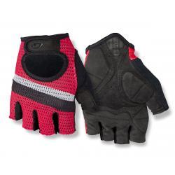 Giro SIV Retro Short Finger Bike Gloves (Red/White Stripe) (S) - 7077806