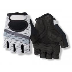 Giro SIV Retro Short Finger Bike Gloves (White/Grey Stripe) (XS) - 7077811
