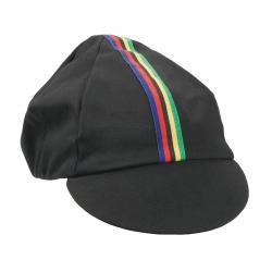 Pace Sportswear Traditional Cycling Cap (Black/World Champion Stripe) (M/L) - 14-0011