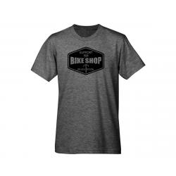 Mechanical Threads Support Your Local Bike Shop T-Shirt (Gray) (L) - TULTEX0241-HTHRCHAR--