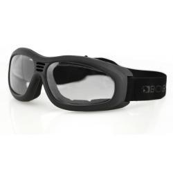 Prescription Bobster Touring II Black - Clear -  Goggles BT2001C | FSA Eligible | BlueDefense(TM)