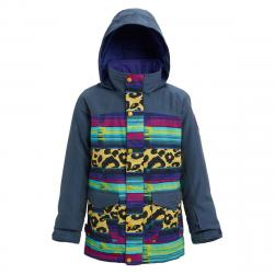Burton Elstar Parka Jacket | Girls | - 19/20  | Multi Denim | Size Large