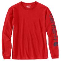 Carhartt  103401 Women's WK231 Long Sleeve Logo T-Shirt - Currant Heather X-Small Regular