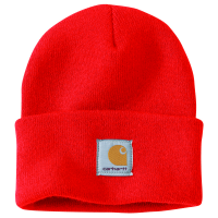 Carhartt | Men's A18 Acrylic Watch Cap | Currant | One Size Fits All | 100% Acrylic Knit | Beanie | Dungarees