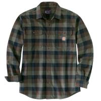 Carhartt Mens 105078 Loose Fit Heavyweight Flannel Long-Sleeve Plaid Shirt - Dark Coffee Small Regular