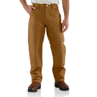 Carhartt | Men's B01 Factory 2nd Double Front Work Pant | Carhartt Brown | 34W x 32L | Loose-Original Fit | 100% Cotton Duck | 12 Ounce | Dungarees