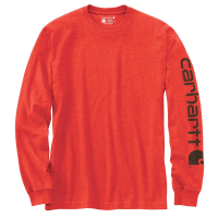 Carhartt | Men's K231 Long Sleeve Logo T-Shirt | Currant Heather | X-Large Tall | Original Fit | 100% Cotton | 6.75 Ounce | Dungarees
