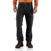 Carhartt | Men's B342 Factory 2nd Cotton Ripstop Cargo Pant | Black | 31W x 30L | Relaxed Fit | 100% Cotton Ripstop | 9.25 Ounce | Dungarees