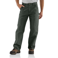 Carhartt | Men's B11 Factory 2nd Washed Duck Pant | Moss | 28W x 30L | Loose-Original Fit | 100% Washed Cotton Duck | 12 Ounce | Dungarees