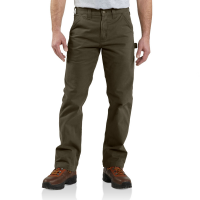 Carhartt | Men's B324 Factory 2nd Washed Twill Pant | Dark Coffee | 30W x 30L | Relaxed Fit | 100% Cotton Peached Twill | 9.25 Ounce | Dungarees